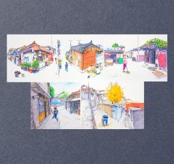남성훈 작가의 색연필화 엽서세트 3종